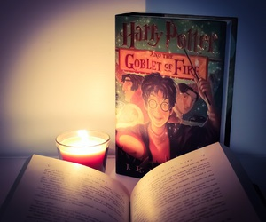 book, books, and goblet of fire image
