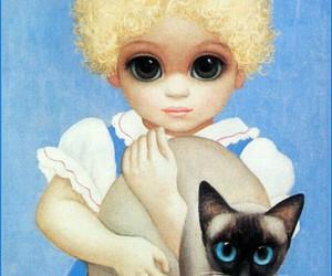 cat, eyes, and keane image