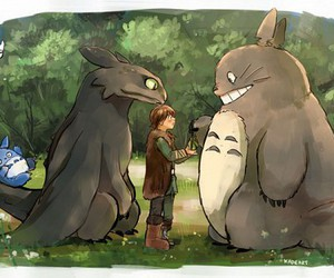 fan art and totoro image