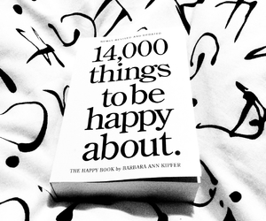black and white, book, and happiness image