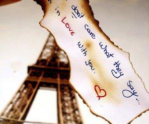 love, paris, and quote image