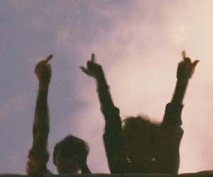 grunge, middle finger, and friends image