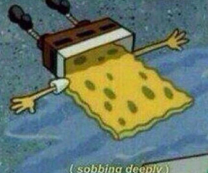crying, grunge, and spongebob image