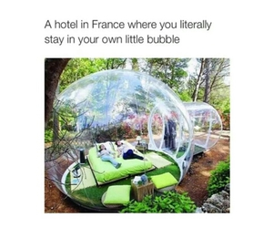 france, hotel, and bubble image