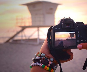 camera, photography, and beach image