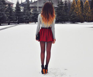 fashion, snow, and hair image