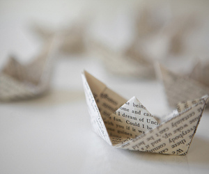 Paper, boat, and photography image