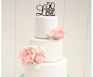 50 years, cake, and decoration image