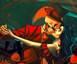 skull, art, and dia de los muertos image