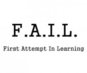 fail, learning, and quote image