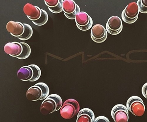 mac, lipstick, and heart image