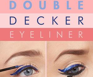 blue, dark, and eyelashes image