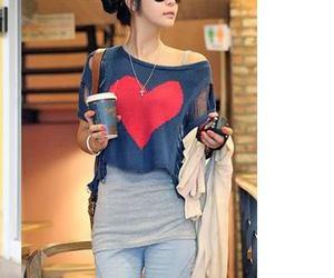 girl, heart, and kfashion image