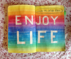 life, colors, and enjoy image
