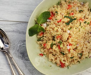 salad and couscous image