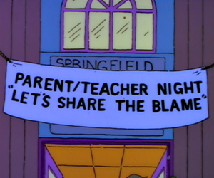 the simpsons, funny, and school image