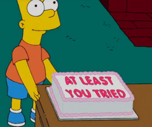 cake, simpsons, and funny image