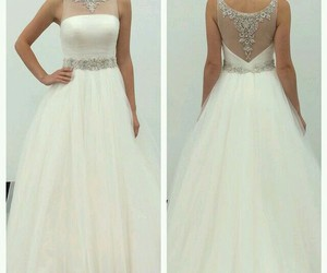 wedding dress, white, and fashion image