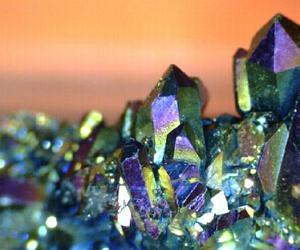 crystals, earth, and metallic image