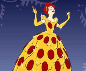 pizza and cinderella image