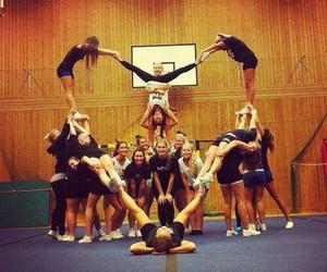 heart, cheer, and cheerleader image