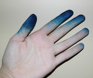 blue, hand, and pale image