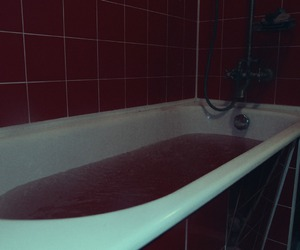 bath, bathroom, and blood image