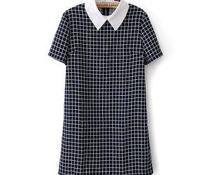 checkered dress, mini dress, and plaid dress image