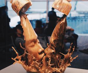 coffee, art, and kiss image