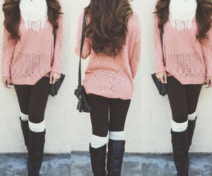 style, outfit, and pink image