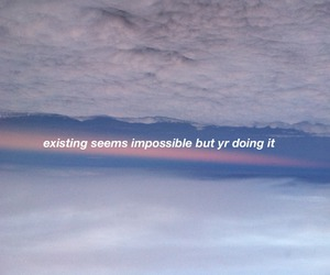 quote, clouds, and sky image