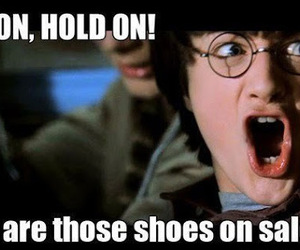 harry potter, funny, and shoes image