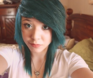 girl, blue hair, and alternative image