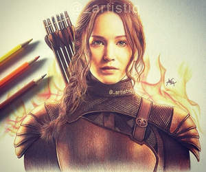 drawing, Jennifer Lawrence, and art image