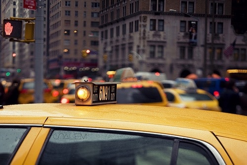 new york city, nyc, and taxi image