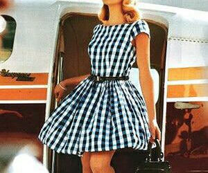 dress, vintage, and plane image