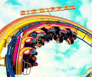 fun, Roller Coaster, and photography image