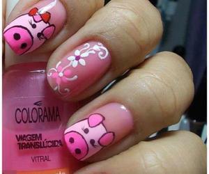 nail, pig, and cute image