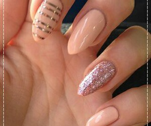 nails, cool, and pink image