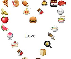 food, heart, and true love image