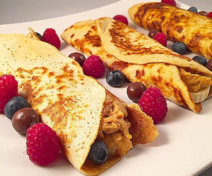 berries, breakfast, and peanutbutter image