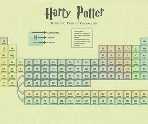 harry potter, periodic table, and hp image