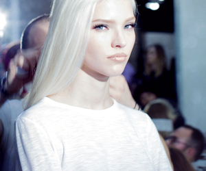 model, blonde, and white image