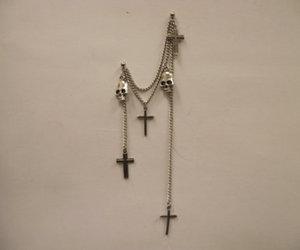 cross, skull, and fashion image