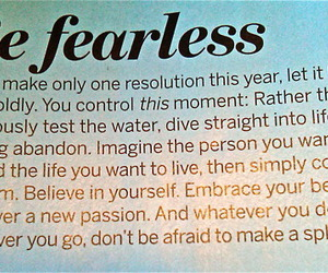 quote, fearless, and life image