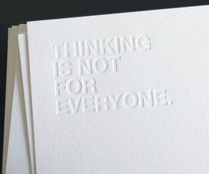 white and thinking image
