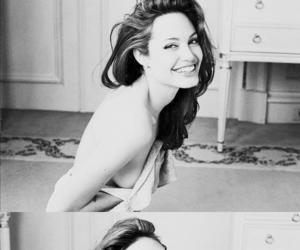 actress, Angelina Jolie, and smile image