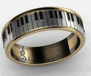 ring, music, and piano image