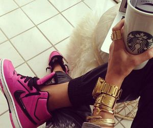 nike, style, and starbucks image