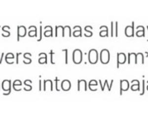 10, pajamas, and shower image
